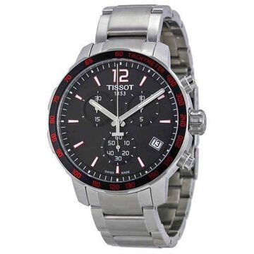 Tissot Quickster Chronograph Black Dial Men's Watch T0954171105700