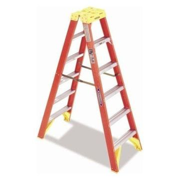 6' Fiberglass Twin Front Step Ladder