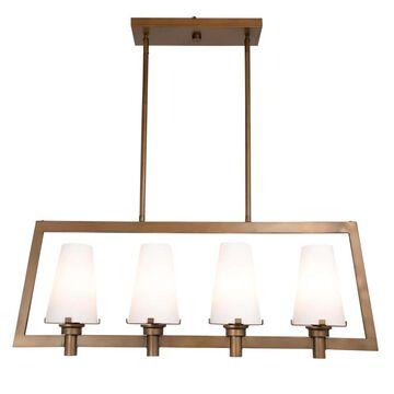 Designers Fountain Hyde Park 4-Light Vintage Gold Transitional Chandelier | 87938-VTG