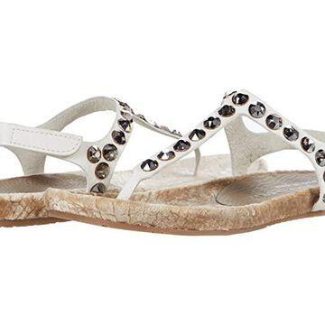 Pedro Garcia Judith (White Cervo/Velvet) Women's Dress Sandals