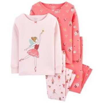 Carter's Baby Girls Snug Fit Pajamas Set, 4 Piece