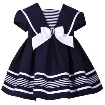 Toddler Girl Bonnie Jean Nautical Dress