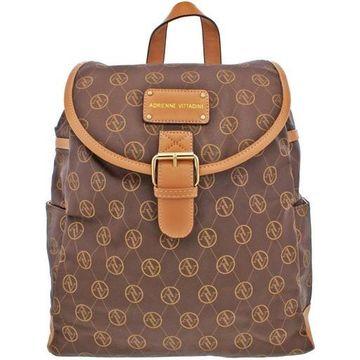 Adrienne Vittadini Womens Faux Leather Adjustable Backpack
