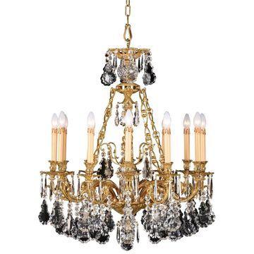 French Gold 12 Light Chandelier By Minka Metropolitan