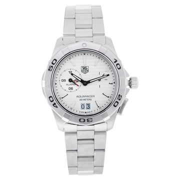 Tag Heuer Men's WAP111Y.BA0831 'Aquaracer' Stainless Steel Watch - silver