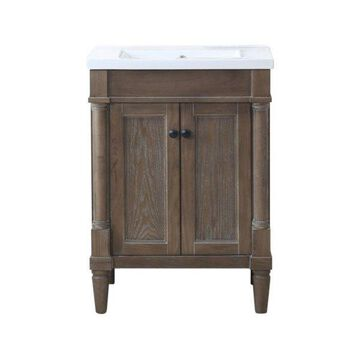 Legion Furniture Marjorie Vanity, Weathered, 24