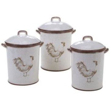 Certified International Toile Rooster 3-Pc. Canister Set