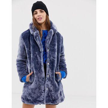 QED London teddy faux fur coat