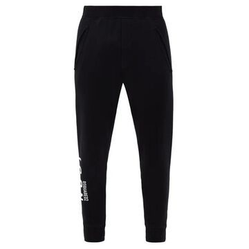 Dsquared2 - Icon-print Cotton Jersey Track Pants - Mens - Black