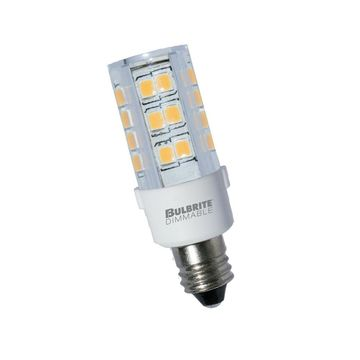Bulbrite LED Mini T4 Dimmable Mini-Candelabra Screw Base (E11) Light Bulb 35 ...