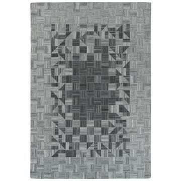 Kaleen Chaps 5 x 8 Grey Indoor Geometric Handcrafted Area Rug Cotton in Gray   CHP04-75-579
