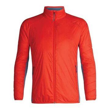 Icebreaker Men's Hyperia Lite Hybrid Long Sleeve Zip Jacket Chili Red/Granite Blue