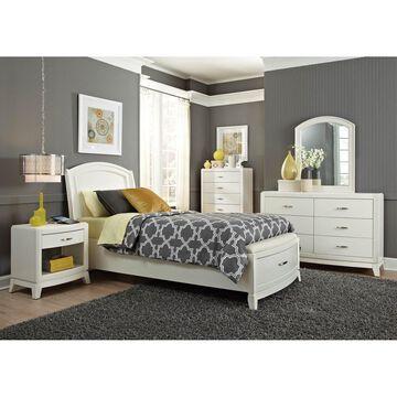 Liberty Avalon II White Leather Storage Bed