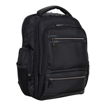 Heritage Dual Compartment Laptop Backpack, Black