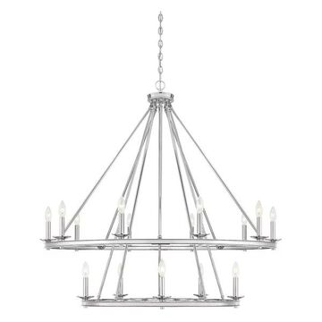 Savoy House Middleton 15-Light Chandelier, Polished Nickel