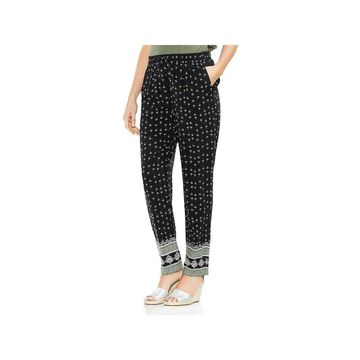Two by Vince Camuto Womens Straight Leg Pants Printed Pull On