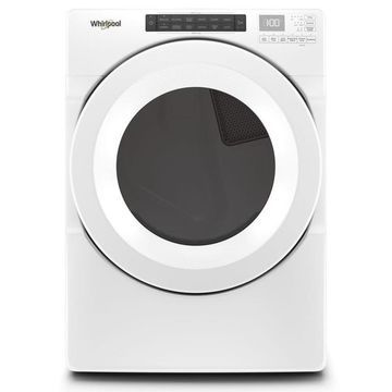 Whirlpool 7.4-cu ft Front Load Stackable Vented Gas Dryer with Intuitive Controls - White