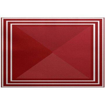 Simply Daisy 4' x 6' Nautical Angles Geometric Print Rug