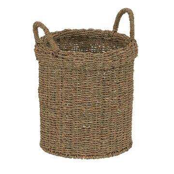 Household Essentials Round Straight-Side Wicker Basket