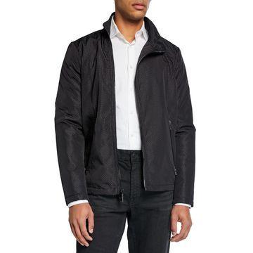 Men's Textured Asymmetrical Jacket