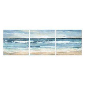 Parvez Taj Blue Waves 144-Inch x 48-Inch Canvas Wall Art Set