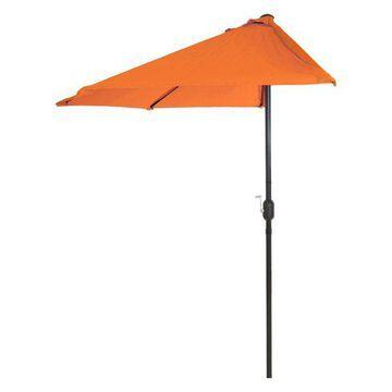 Half Round Patio Umbrella w/ Easy Crank- 9 Foot by Pure Garden, Terrac