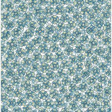 Brewster 2657-22224 Allison Blue Floral Wallpaper