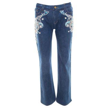 Roberto Cavalli Blue Cotton Jeans