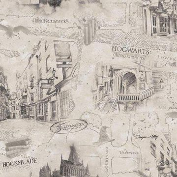 Harry Potter Map Peel and Stick Wallpaper
