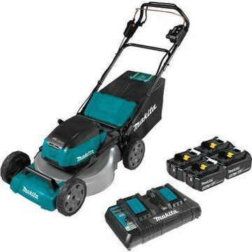 Makita 18V X2 (36V) LXT Lithium-Ion Brushless Cordless 21 in Self-Propelled Commercial Lawn Mower Kit with 4 Batteries, XML08PT1
