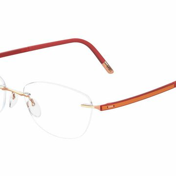 Silhouette Rimless 5479 Fusion Eyeglasses in Orange