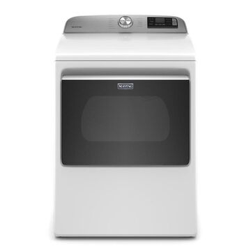 Maytag 7.4-cu ft Smart Capable Electric Dryer with Extra Power Button in White