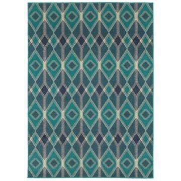 Oriental Weavers Highlands 6627B Blue/Teal 5'3