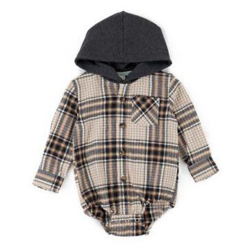 Sovereign Code Size 6M Triumph Hooded Plaid Bodysuit in Grey