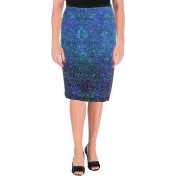 Elie Tahari Womens Beatrice Knee-Length Work Wear Pencil Skirt