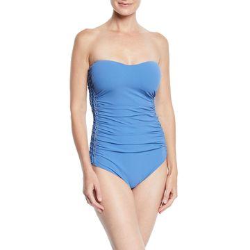 Fishnet Bandeau One-Piece Swimsuit