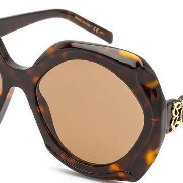 Elie Saab 057/G/S 0086/2M Men's Sunglasses Tortoiseshell Size 58