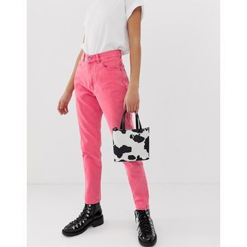 Dr Denim Nora high rise mom jean in pink
