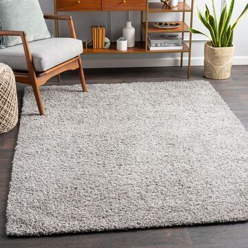 """Art of Knot Fourni Gray 8'10"""" x 12' Modern Solid Area Rug"""