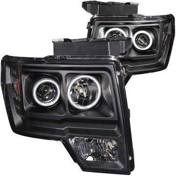 ANZO USA 111161 09-13(NOT 2011) F150(INCL RAPTOR)HEADLIGHTS BLACK PROJECTORS