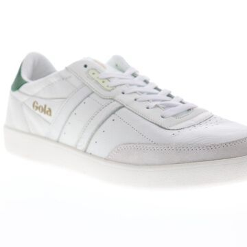 Gola Inca Leather Mens White Retro Lace Up Low Top Sneakers Shoes