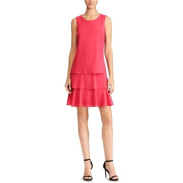 American Living Womens Sleeveless Tiered Party Dress