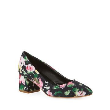 Mietta Floral Block-Heel Pumps