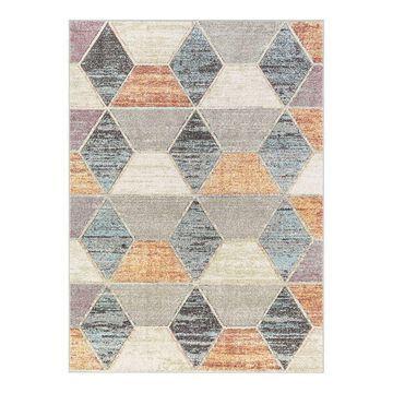 Well Woven Whoa Mesa Modern Geometric High-Low Area Rug, Multicolor, 2X7 Ft