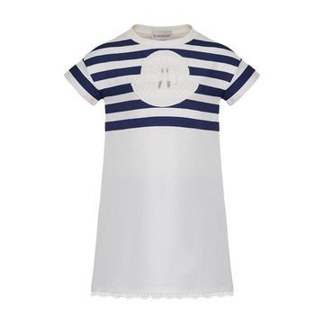 Short-Sleeve Striped Upper Dress, Size 4-6