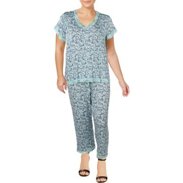 Rene Rofe Womens Capri V-Neck Pajama Set