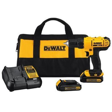 DEWALT 20-Volt Max 1/2-in Drill (Charger Included and 2-Batteries Included)