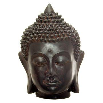 Oriental Furniture 6 in. Thai Buddha Head Statue
