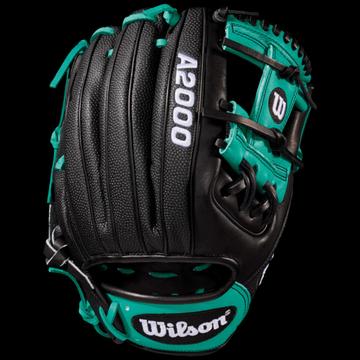 Wilson A2000 RC22 Superskin Fielder's Glove - Black / Mariner Green / White