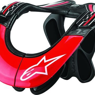 Alpinestars Bns Tech Carbon Neck Support Anthracite/Red/White L/X